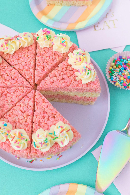 Outstanding Cake Slice Rice Krispies Treats Recipe Rice Krispie Treats Birthday Cards Printable Inklcafe Filternl