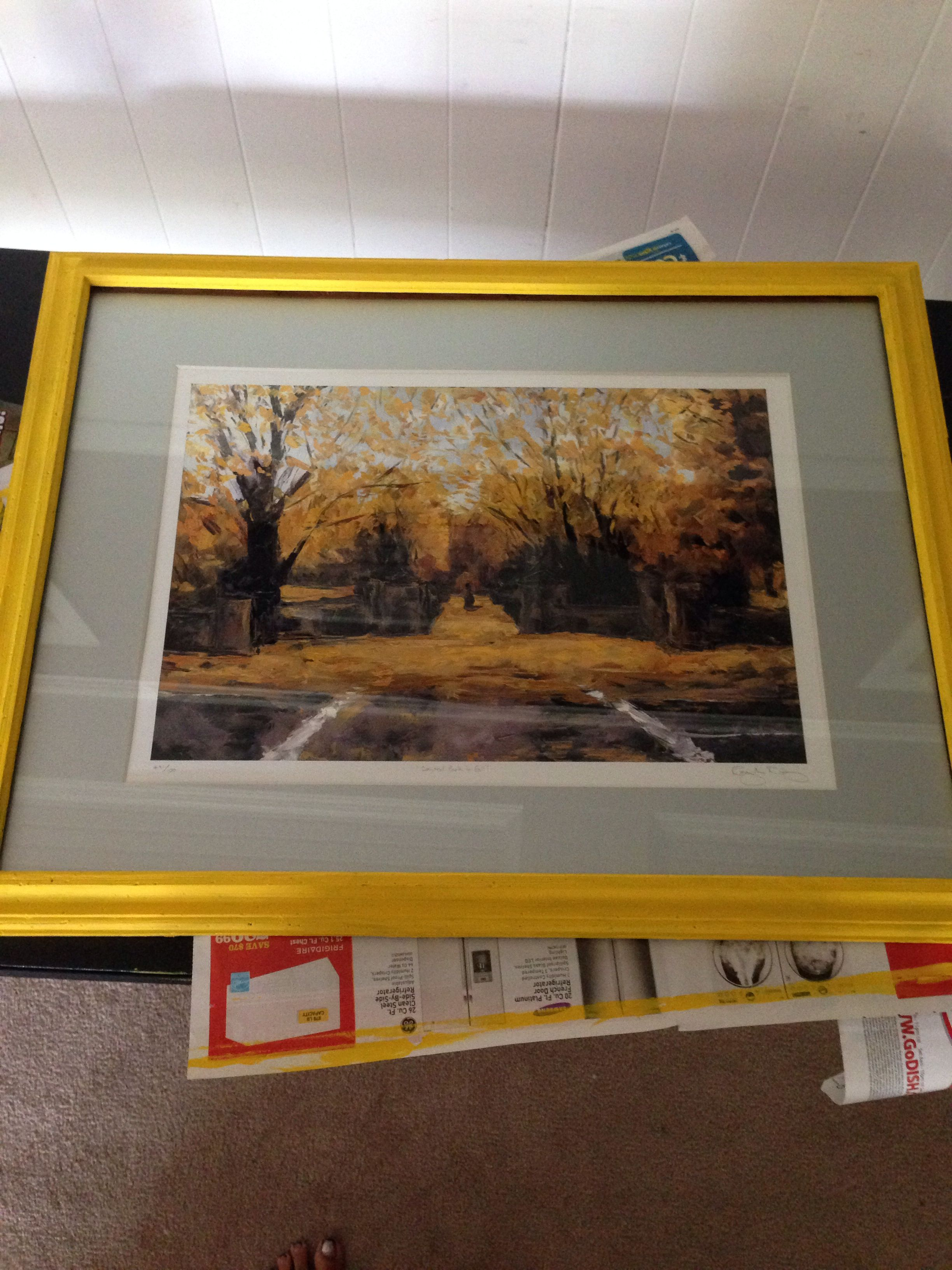 Refurbished picture frame, I got an old wooden frame from a resale ...