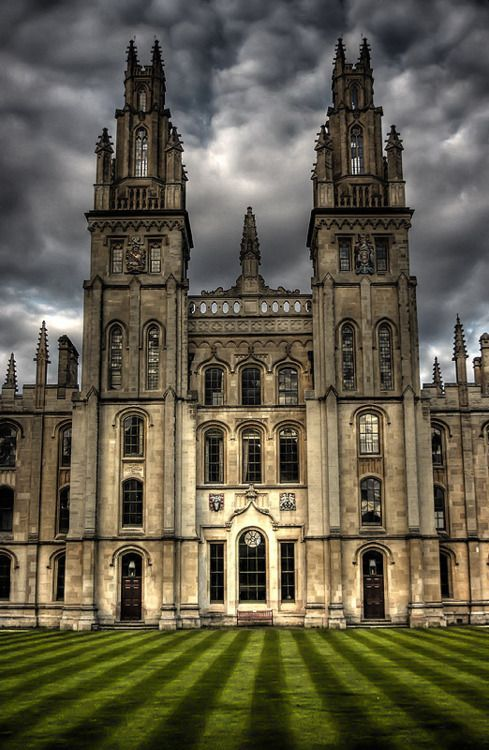 U.K. Two Towers, All Souls College, Oxford University, Oxford, England //