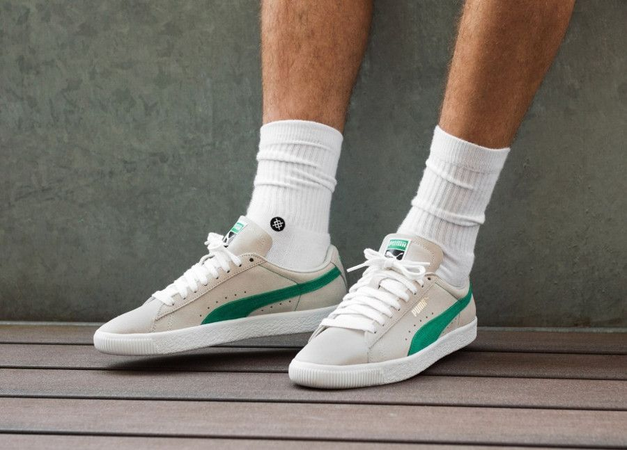 new products 252aa 05cf5 Puma Suede 90681 'Whisper White Green Flash' | Sneakers ...