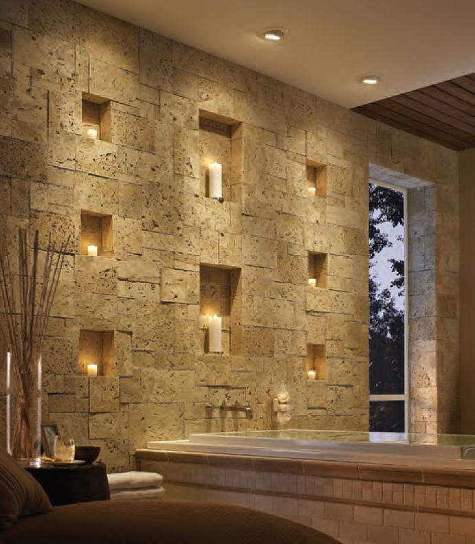 Interior Stone Veneer For The Public Area Of The House: Interior Stone  Veneer Natural Brown Stine For Bathroom ~ Dickoatts.com Interior Designs  Inspiration