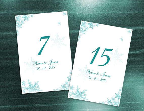 diy printable wedding table number microsoft word template winter