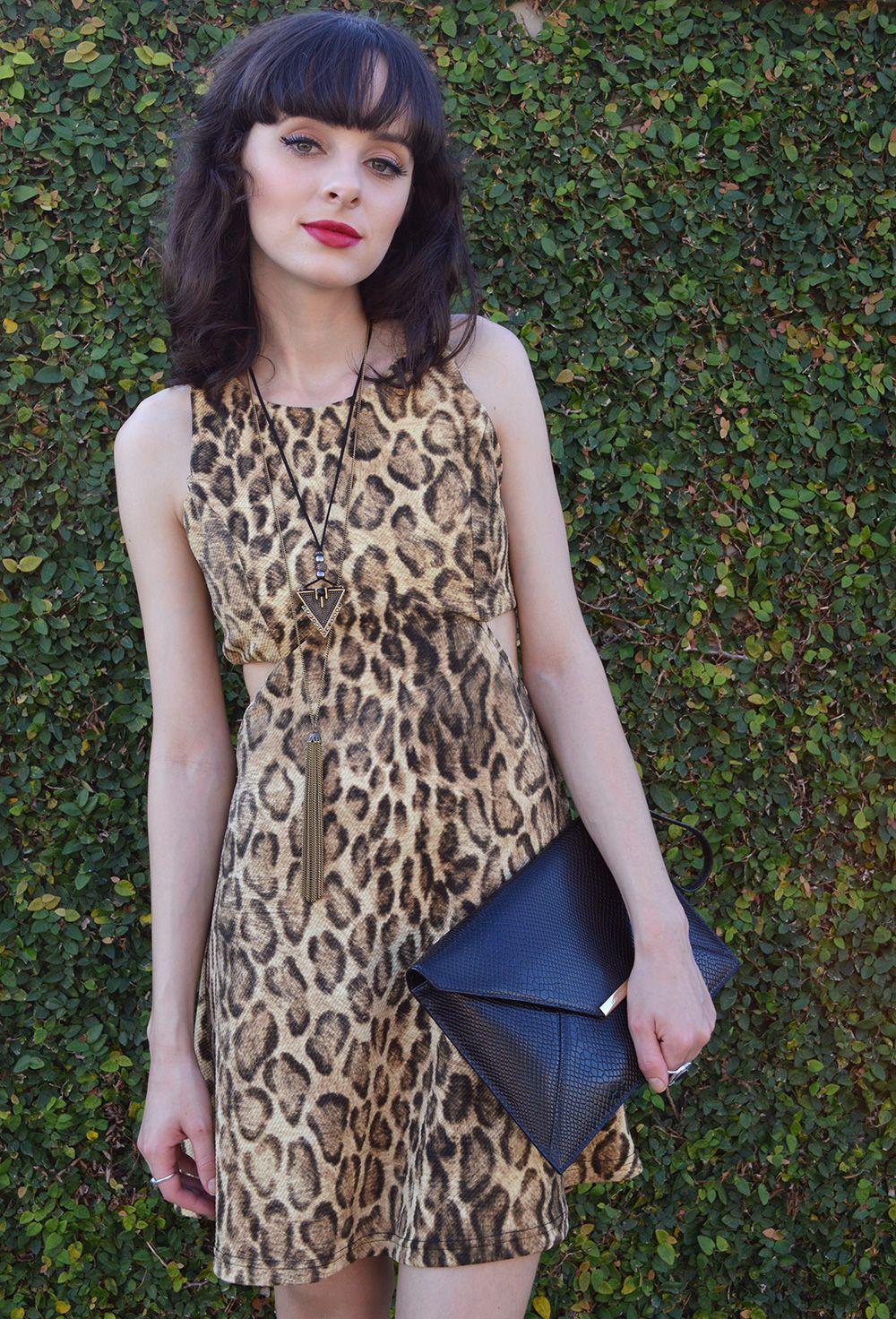 Look Festa Casual com Animal Print - Blog Ela Inspira - http://bit.ly/1Le9JJ3