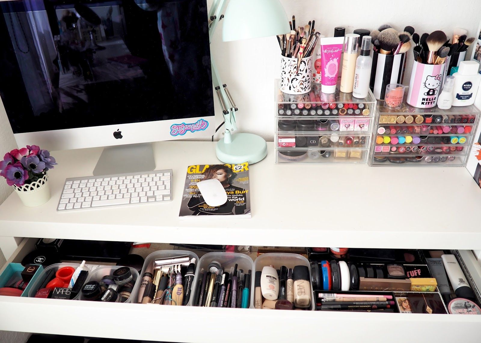 A look inside my ikea malm dressing table scolvinbeauty makeup organisati - Rangement dressing ikea ...