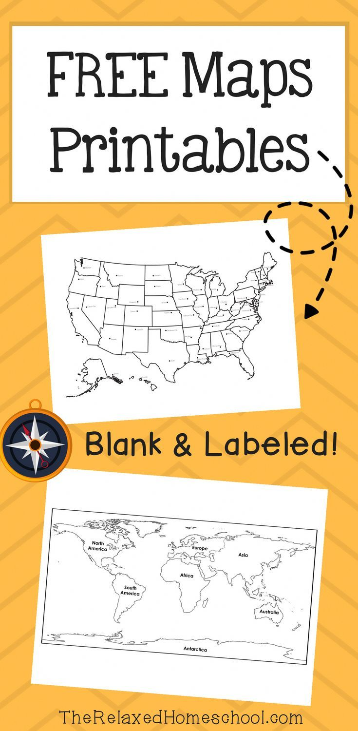 FREE Map Printables! The Relaxed Homeschool Homeschool