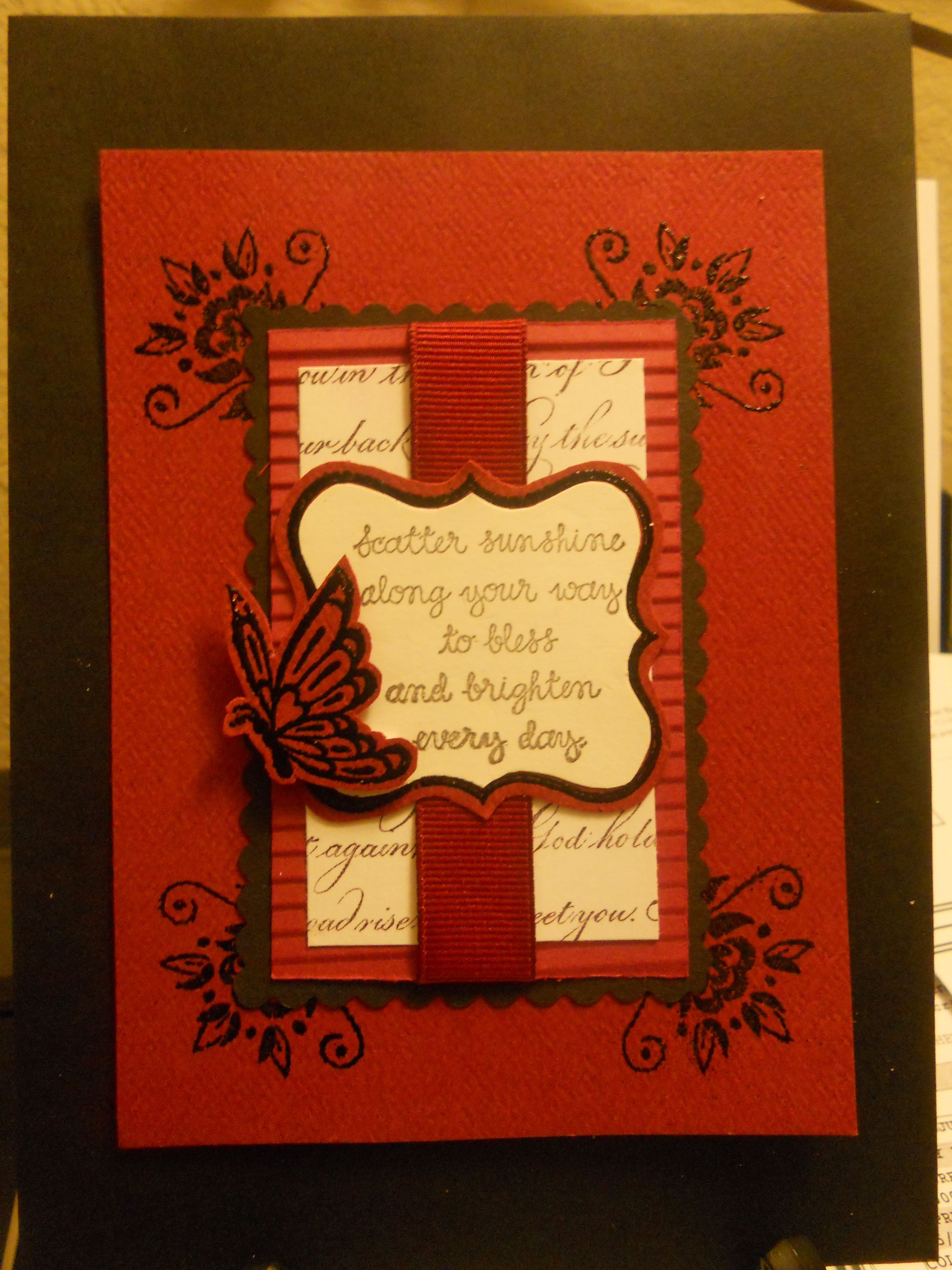 Playing around with some scraps again good card for many occasions