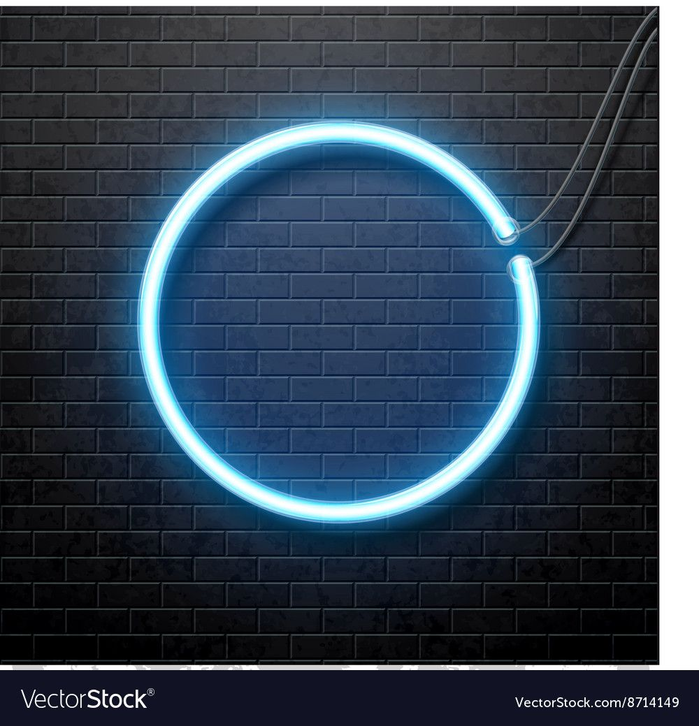 Neon Blue Circle Isolated On Black Brick Wall Vector Image Sponsored Circle Isolated Blue Background Images Dark Background Wallpaper Background Images