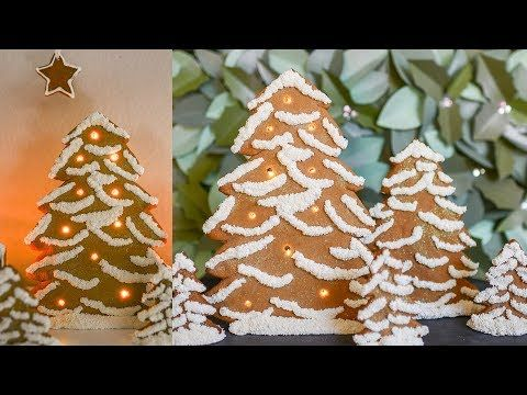 Tutorial for how to make an LED light-up gingerbread Christmas tree