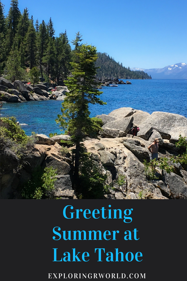 Summer at Lake Tahoe in California offers hiking, kayaking, boating, swimming, biking. #LakeTahoe #TruckeeRiver #InclineVillage #TahoeCity