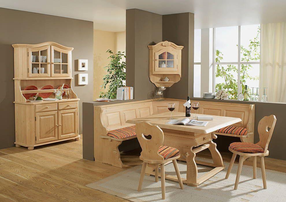 Landhaus Eckbank Landau 195x195cm Fichte Massiv Top Qualität Neuware !! |  EBay