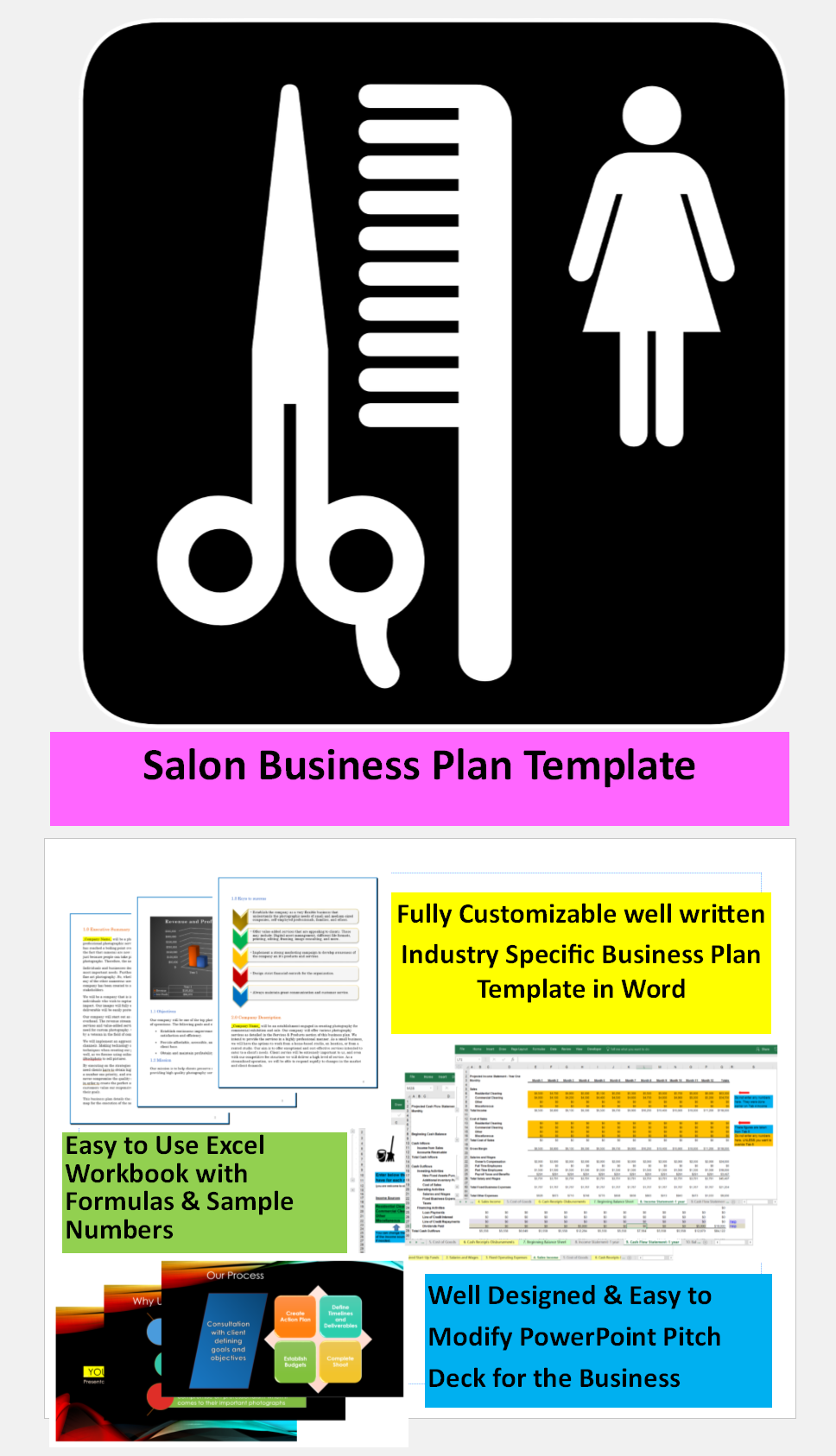 Salon business plan template great easy to use templates for salon business plan template great easy to use templates for starting running a salon accmission Gallery