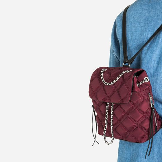 Image 6 of QUILTED CHAIN BACKPACK from Zara | Wishlist | Pinterest ... : quilted rucksack zara - Adamdwight.com
