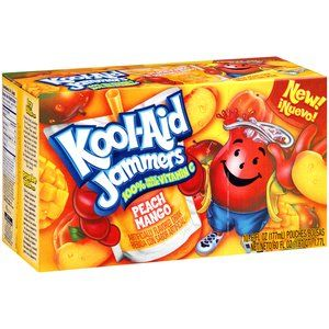 Kool Aid Jammers Peach Mango Artificially Flavored Soft Drink 10 Ct Box 6 Fl Oz Pouches Walmart Com In 2021 Flavored Drinks Kool Aid Mango Drinks