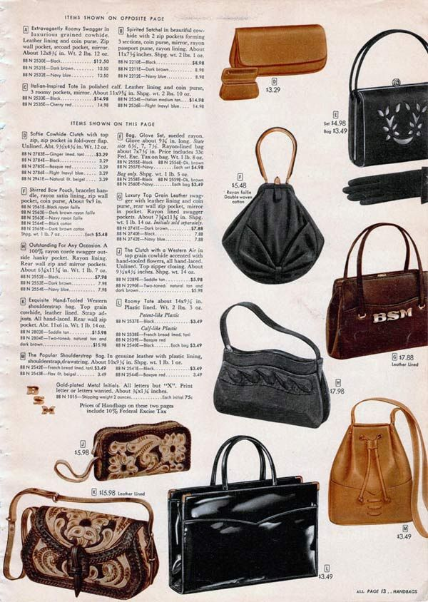 Purses In The 1950s Were