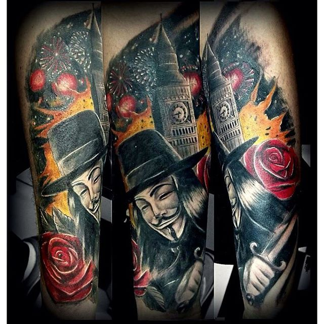 Tattoo Designs Vendetta: V For Venedtta Tattoo By Chico MW #vforvendetta #movie
