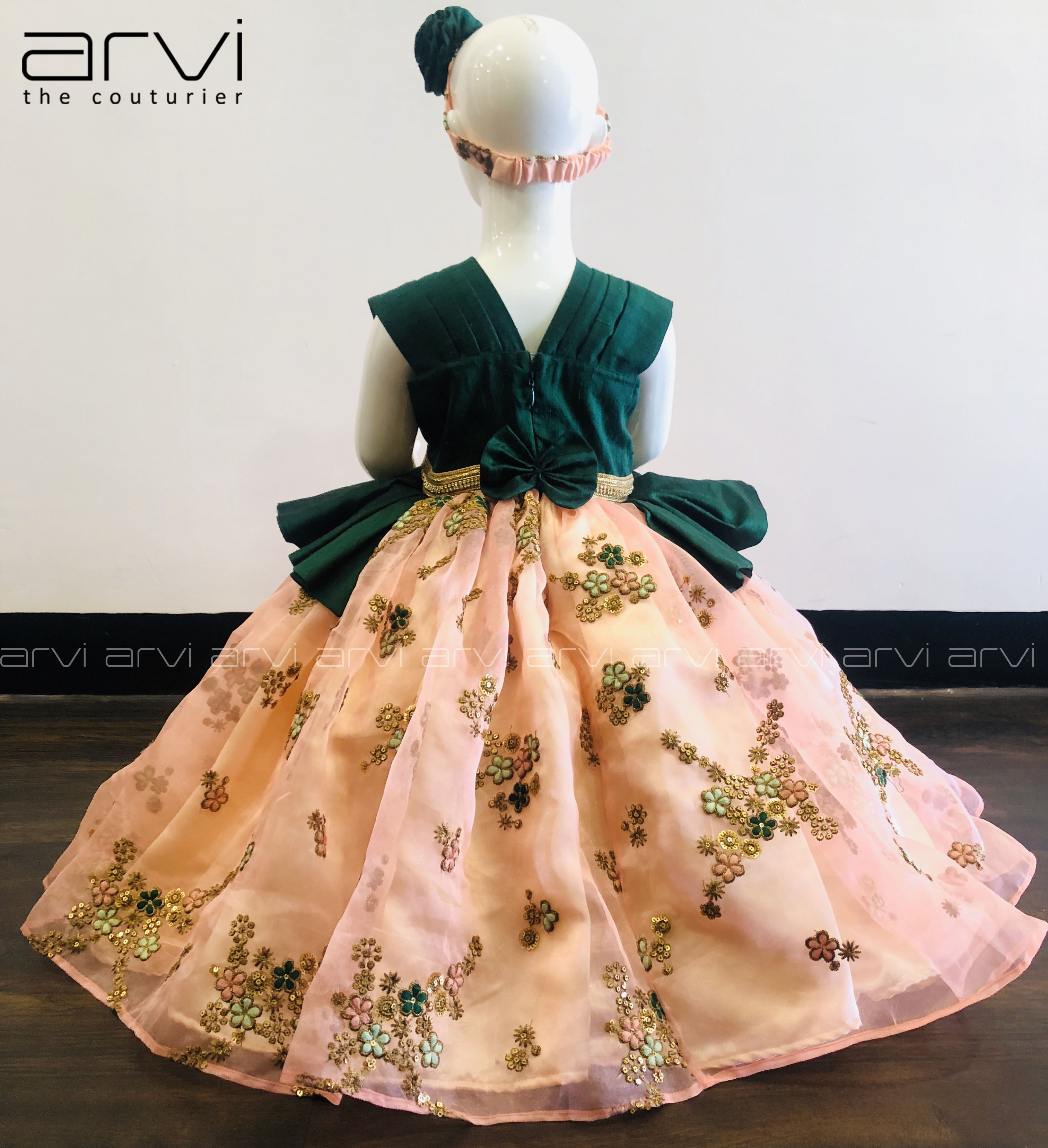 Exclusive designer kid frock for 12 24 months old baby