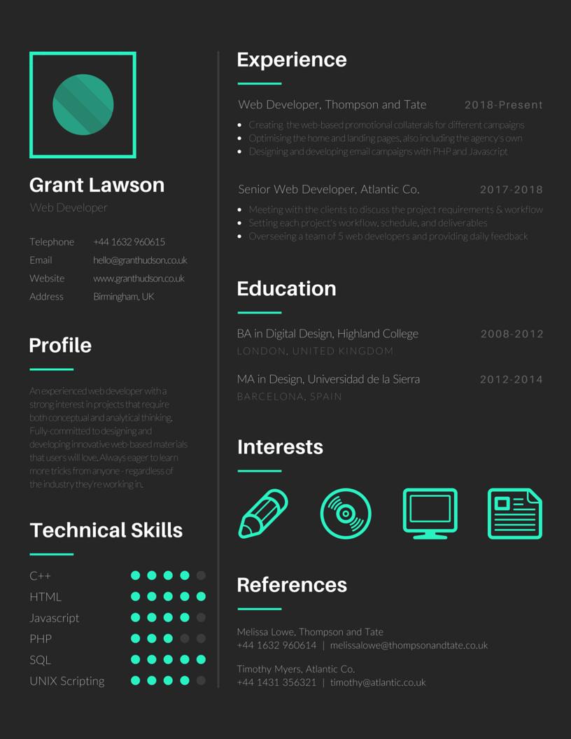Resume Cv Job Lavoro Desain Cv Cv Kreatif Kreatif