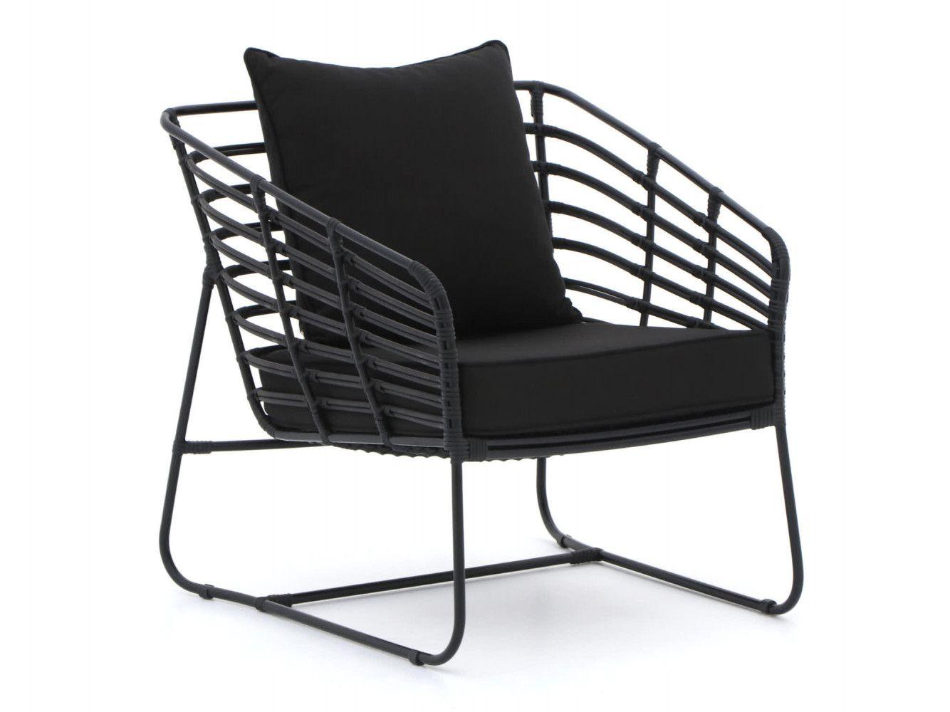 Zwarte Lounge Stoel.Zwarte Lounge Tuinstoel Van Giardo Furniture Tuinstoelen In