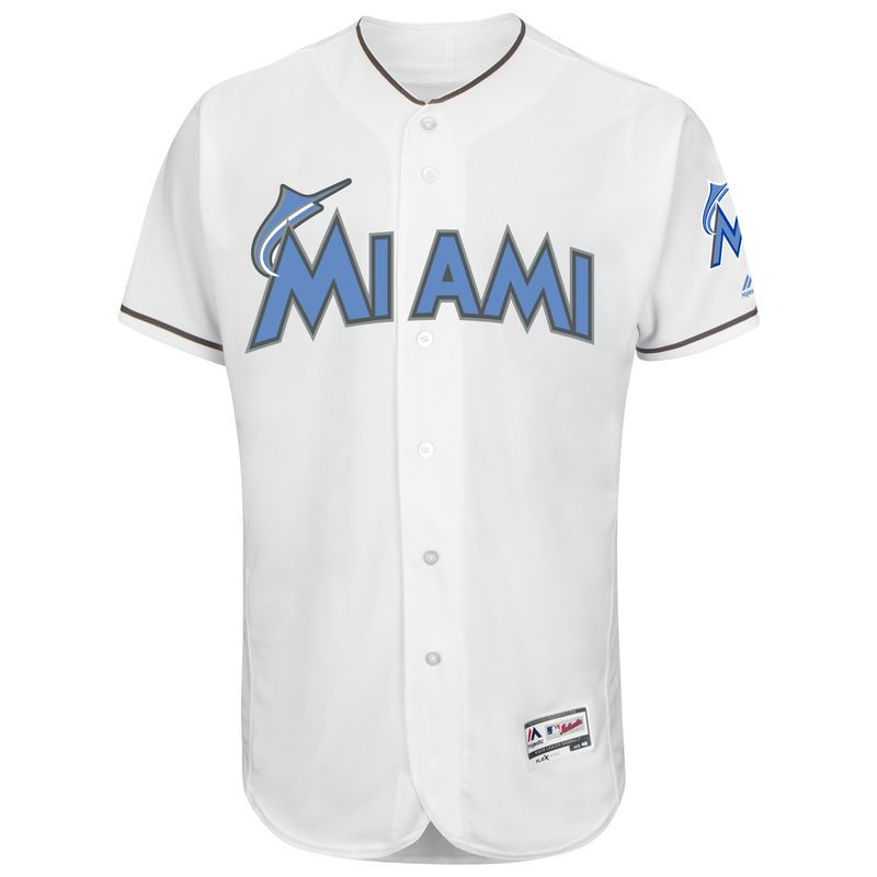 new style a9b27 26764 Miami Marlins Majestic Father's Day Flex Base Team Jersey ...