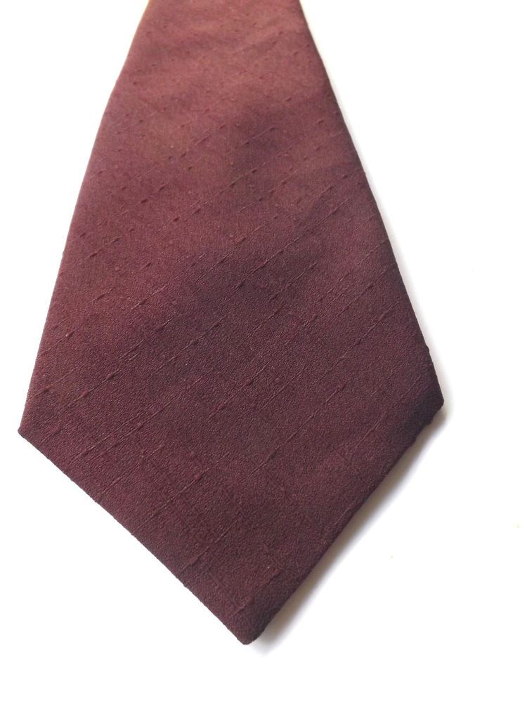 RETRO KIPPER NECK TIE by Michelsons Claret Textured Polyester 1970s FREE P&P #Michelsons #NeckTie