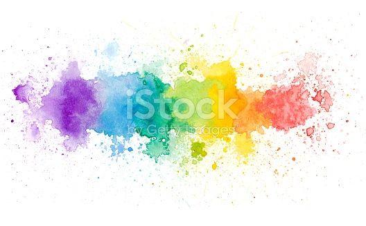 Rainbow Color Watercolor Background Rainbow Tattoos Rainbow