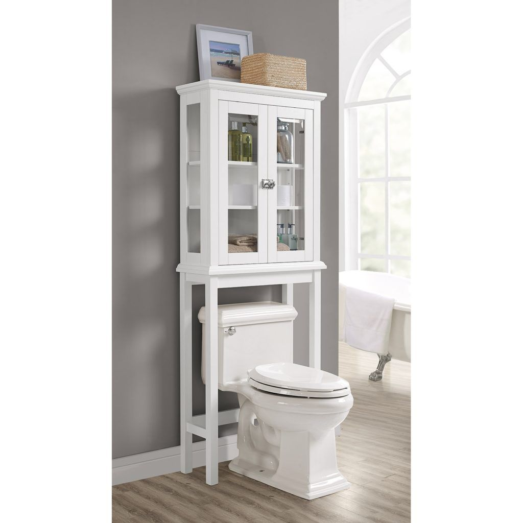 bathroom cabinet over the tank space saver