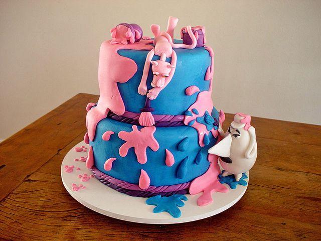 Bolo Da Pantera Cor De Rosa Pink Panther Cake Contato