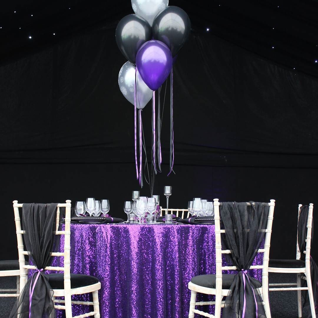 Purple And Black Party #purplesequin #purpleandblack