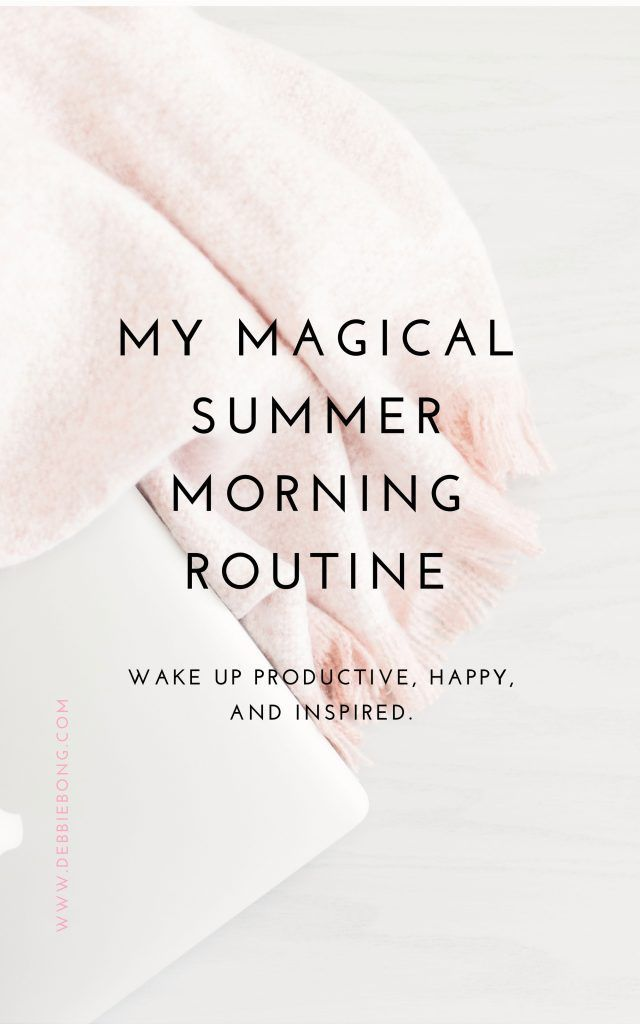 Summer Morning Routine + Free Routine Printable #morningroutine