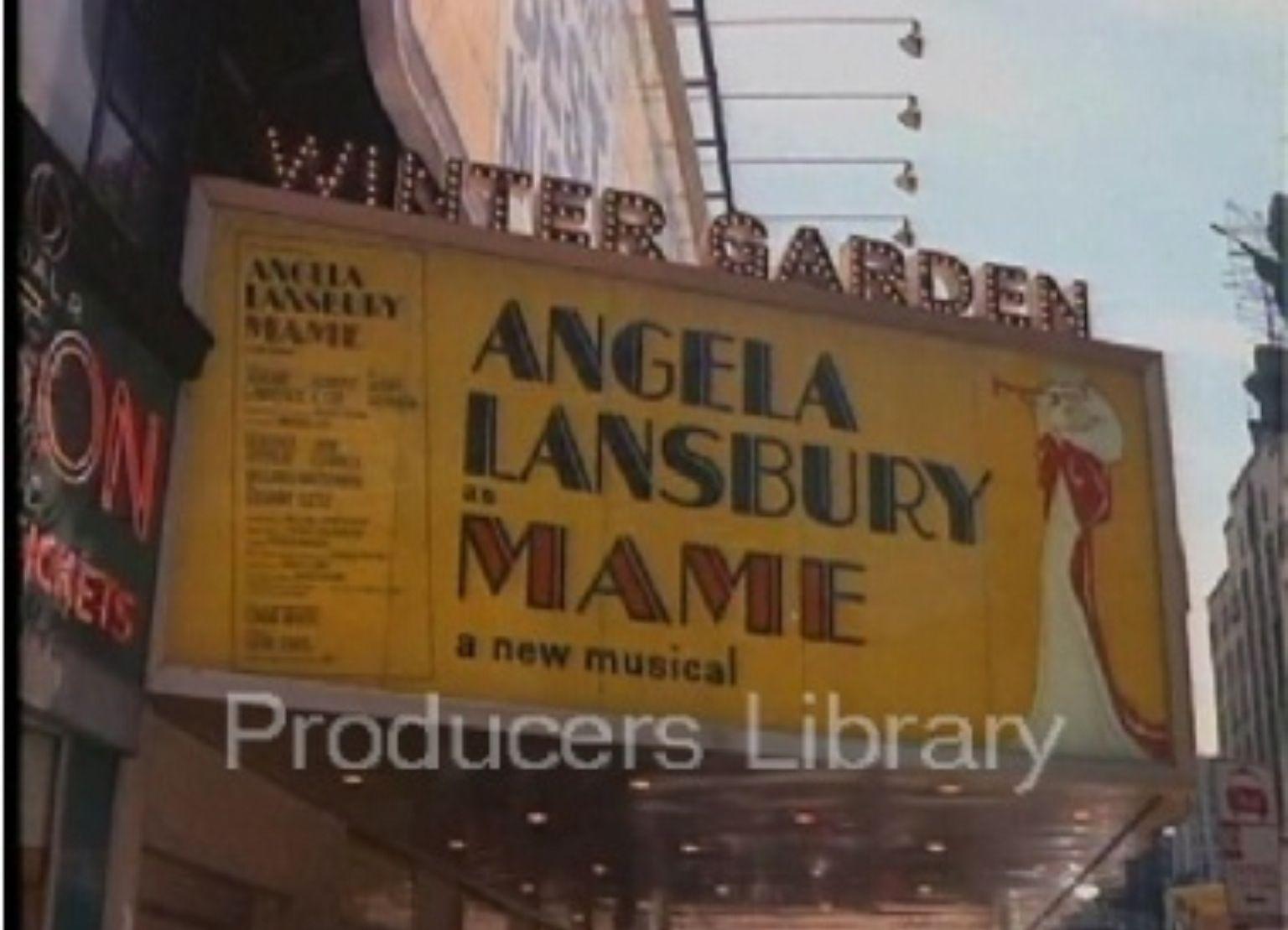 Broadway marquee Mame Winter Garden Theatre Angela Lansbury ...
