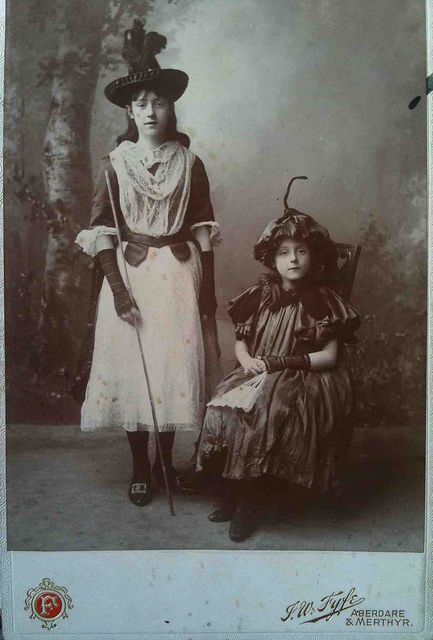 Vintage Photo Halloween Or Perhaps Dressed For A Play