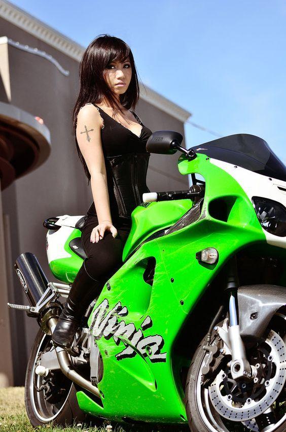 pin by on girls motorcycles motorbike biker girl biker. Black Bedroom Furniture Sets. Home Design Ideas