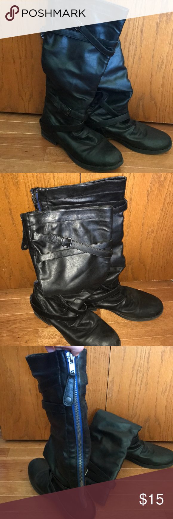 Madden Girl Tall Black Dress Boots Size 11 Black Dress Boots Dress With Boots Madden Girl [ 1740 x 580 Pixel ]