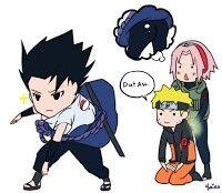 Sakura vendo a bundinha do Uchiha... kkkkk Sasuketes curtindo geral