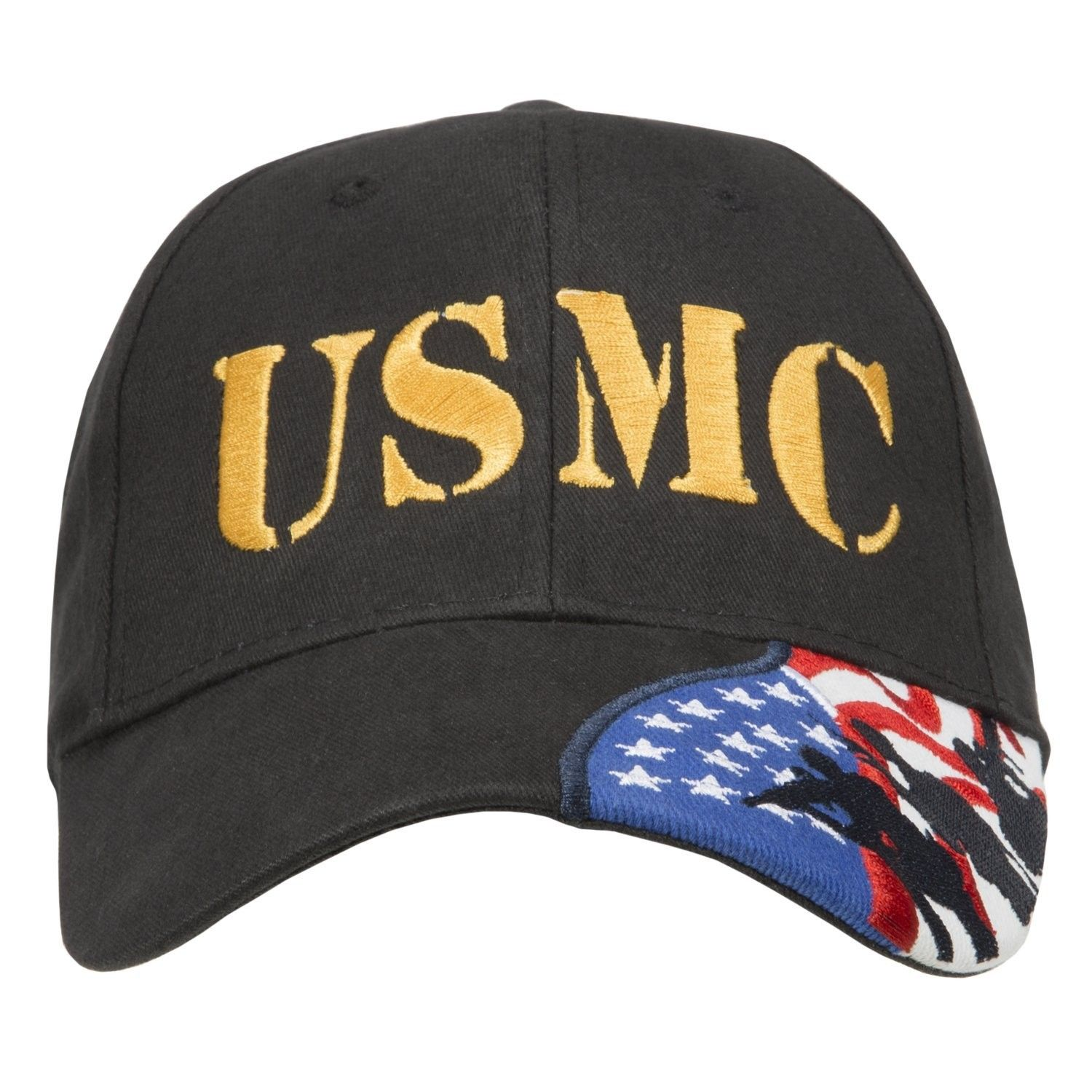 d3a0d205f7e29 US Marines Corps embroidered cap Few Proud Military USA Insignia Adjustable  Baseball Caps Hat - Usmc Black - CE187DY84CA - Hats   Caps