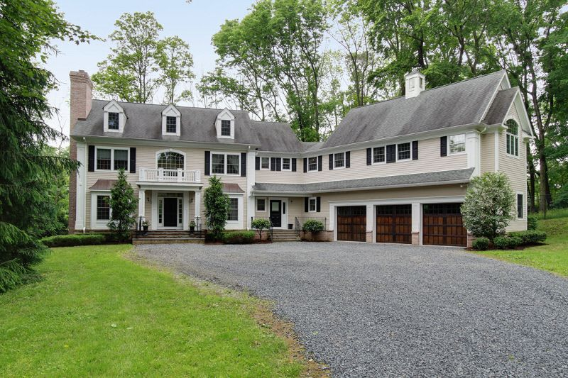 3 bay l shape garage colonial with dormers very similar for Cape to colonial conversion plans
