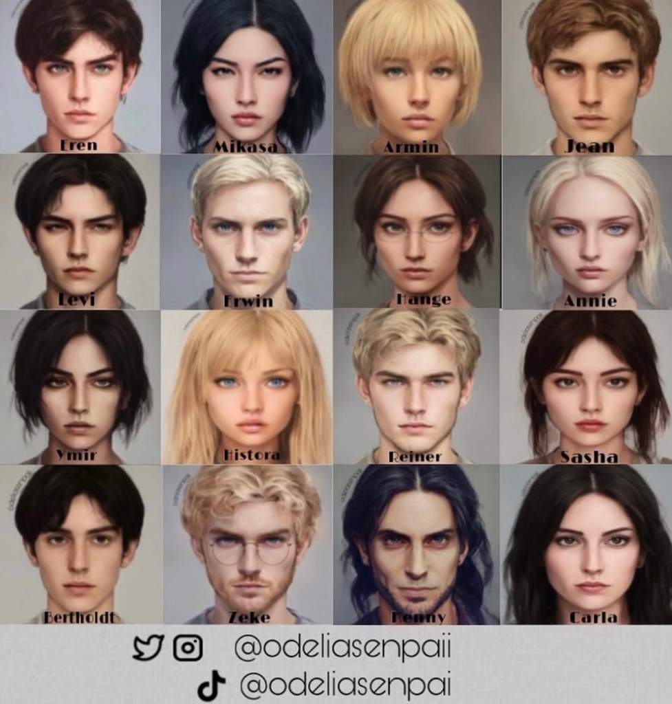 AOT characters in real life???!! | Attack On Titan