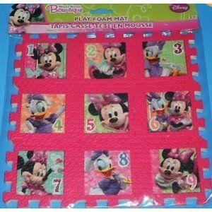 Disney Minnie Mouse Bow Tique Foam Play Mat Puzzle 9 X 9 Puzzles