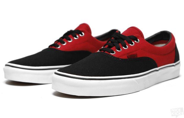 Vans Era | Black / Red | i dont like shoes | Vans, Sneakers, Vans ...