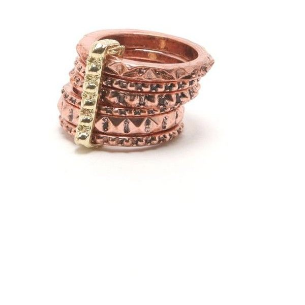 With Love From CA Rose Gold Stack Rings