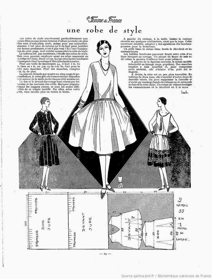I Love Historical Clothing La Femme De France 1927 Sewingpatterns