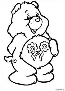 Image result for Care Bears Coloring Pages Carebear Pinterest
