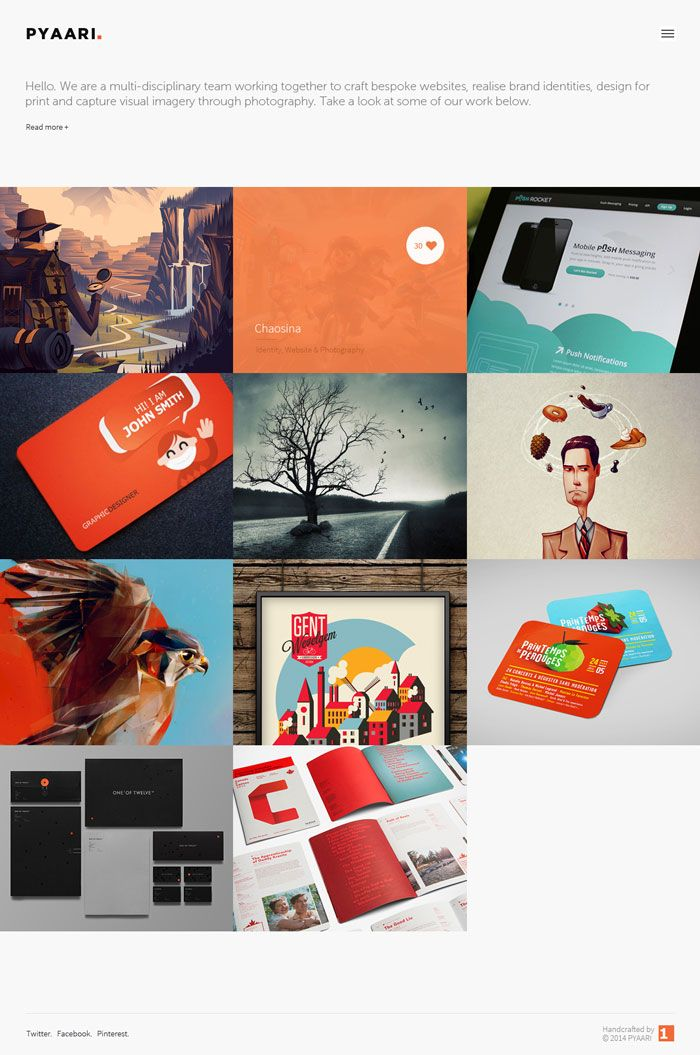 pyaari is a free html5 responsive portfolio template built using