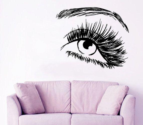 Make Up Wall Decal Beauty Salon Decor Fashion by AmazingDecalsArt