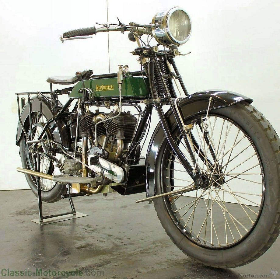 Types Of Motorcycle Engines: New Imperial 1917 1000cc JAP Manufacturer: New Imperial
