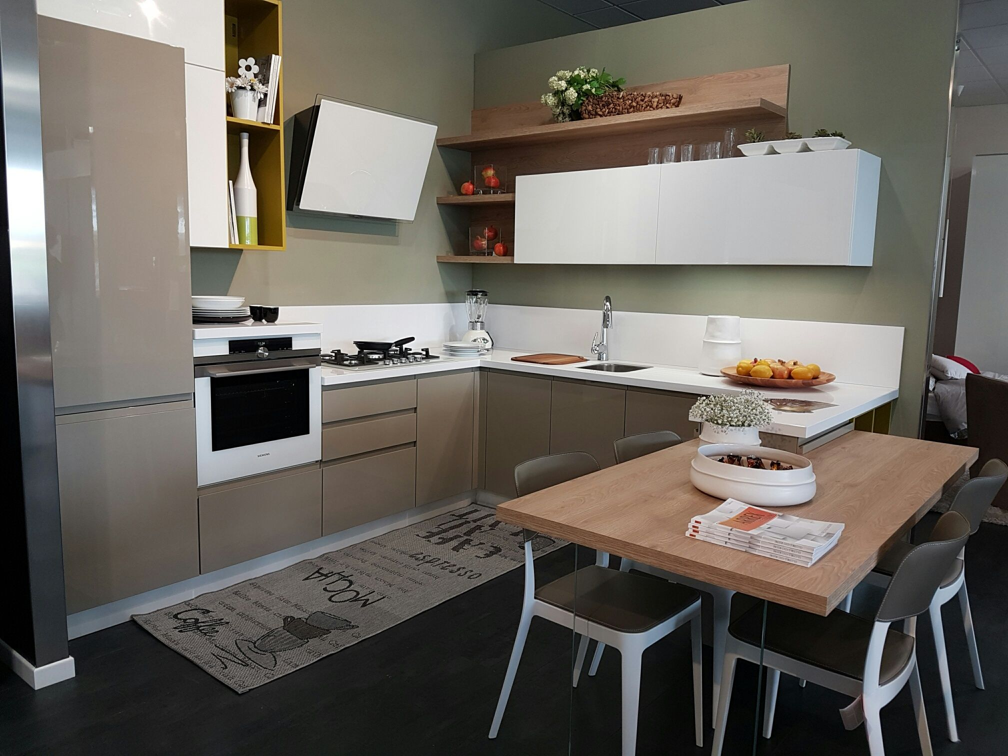showroom virgili arredamenti italy kitchen by arrex italy