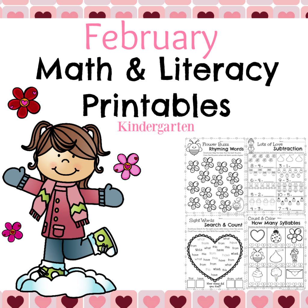 February Kindergarten Worksheets