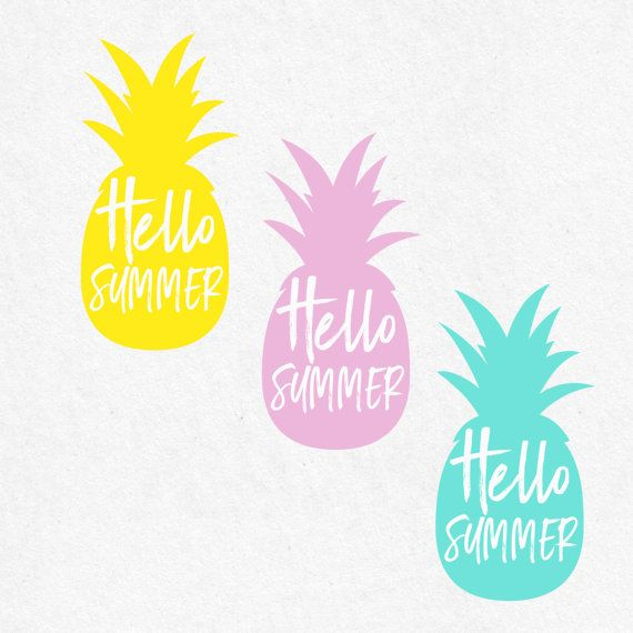 Bon Hello Summer Pineapple Svg Beach Svg Svg Saying Summer Svg Summer Quotes  Summer Beach Svg Svg