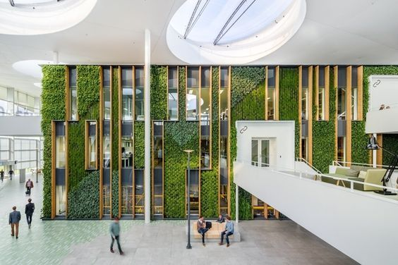 Office tour liander offices duiven office designs for Green office interior design
