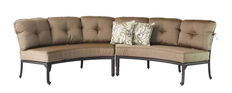 Cast Aluminum Curved Outdoor Sofa